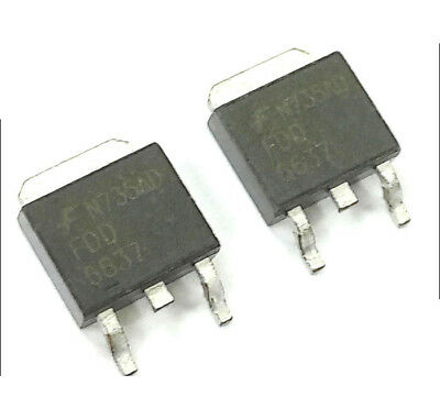 10 PCS FDD6637 TO-252 FDD 6637 35V P-Channel PowerTrench-R MOSFET