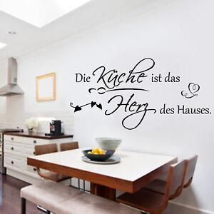 Wandschnorkel Hm Aa068 Wandtattoo Die Kuche Ist Das Herz Des Hauses Aufkleber Ebay