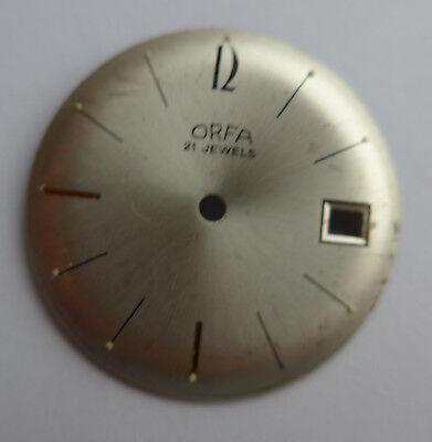 Singolo Vecchia Uhrblatt Quadrante -- Orfa ---mostra Il Titolo Originale Eccellente Nell'Effetto Cuscino