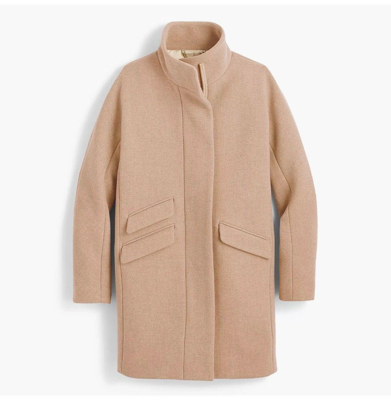 NWT JCrew Cocoon Coat in Italian stadium-cloth wool SZ 12P P12 sandstone G9236