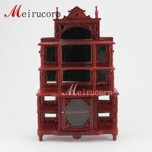 Dollhouse 1/12 scale miniature furniture Display shelf ...