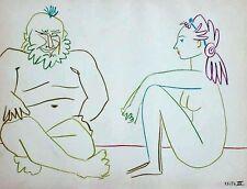 Pablo Picasso - Dessins de Picasso Verve 29/30 Clown and Nude Woman - Lithograph