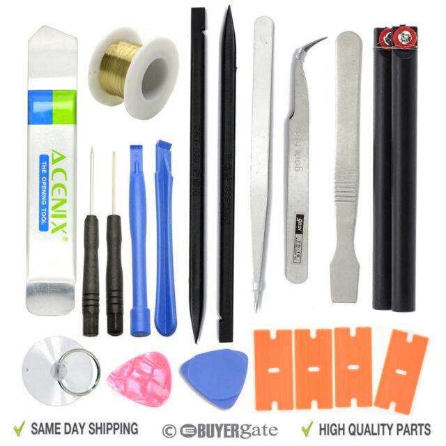 19 in 1 Opening Pry Tool Set Spudger Tweezers Nylon Plastic Opener Screwdrivers