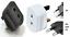 2 Pin To UK 3 Fused Adaptor Plug For Shaver Toothbrush Adapter EU Euro Plug