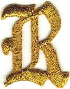 1-1-8-034-Fancy-Metallic-Gold-Old-English-Alphabet-Letter-R-Embroidered-Patch
