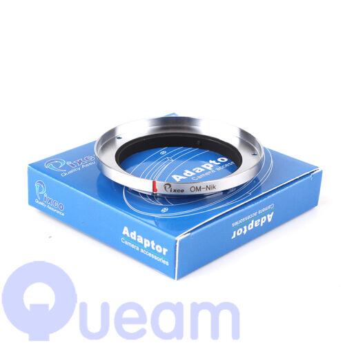 Pixco Olympus OM Lente Adaptador Nikon tres Tornillo D7000 D7100 D700 D800 D3100