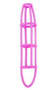 Accessoires-coquins-sextoys-cage-a-penis-en-silicone-rose-fushia