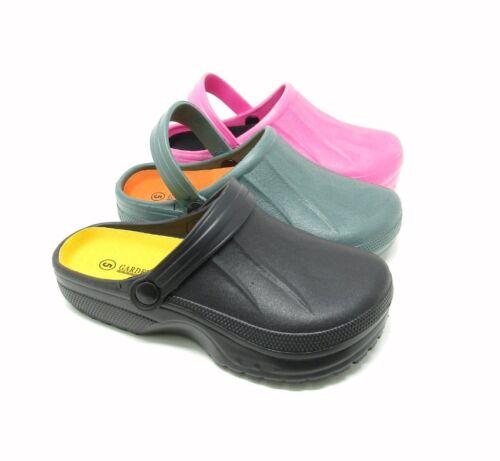Femmes Full Kitchen Sabots Noir chefs Chaussures De Plage Chaussures De Jardin à Enfiler Nouveau