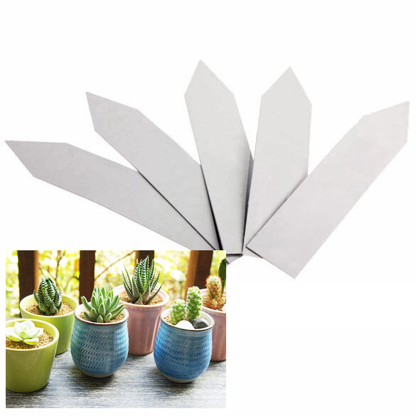 """1 Pack of 100 pcs Plant Pot Markers Plastic Garden Stake Tags Nursery Labels 4"""""""