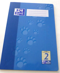 1-x-Oxford-Schulheft-Schreibheft-A4-Lineatur-2-034-2te-Schuljahr-034-16-Blatt