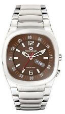 Freestyle Men's Superbank Diving Surfing Watch Silver Band Brown Face Scuba Dive