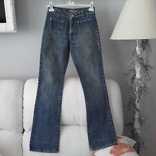 Jeans Miss Sixty lavaggio scuro scampanati zampa pantaloni pantalone 27 40