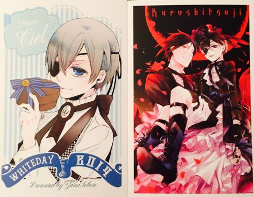 Kuroshitsuji Black Butler-CIEL SEBASTIAN ALOIS CLAUDE Postcard Photo Card Set #R