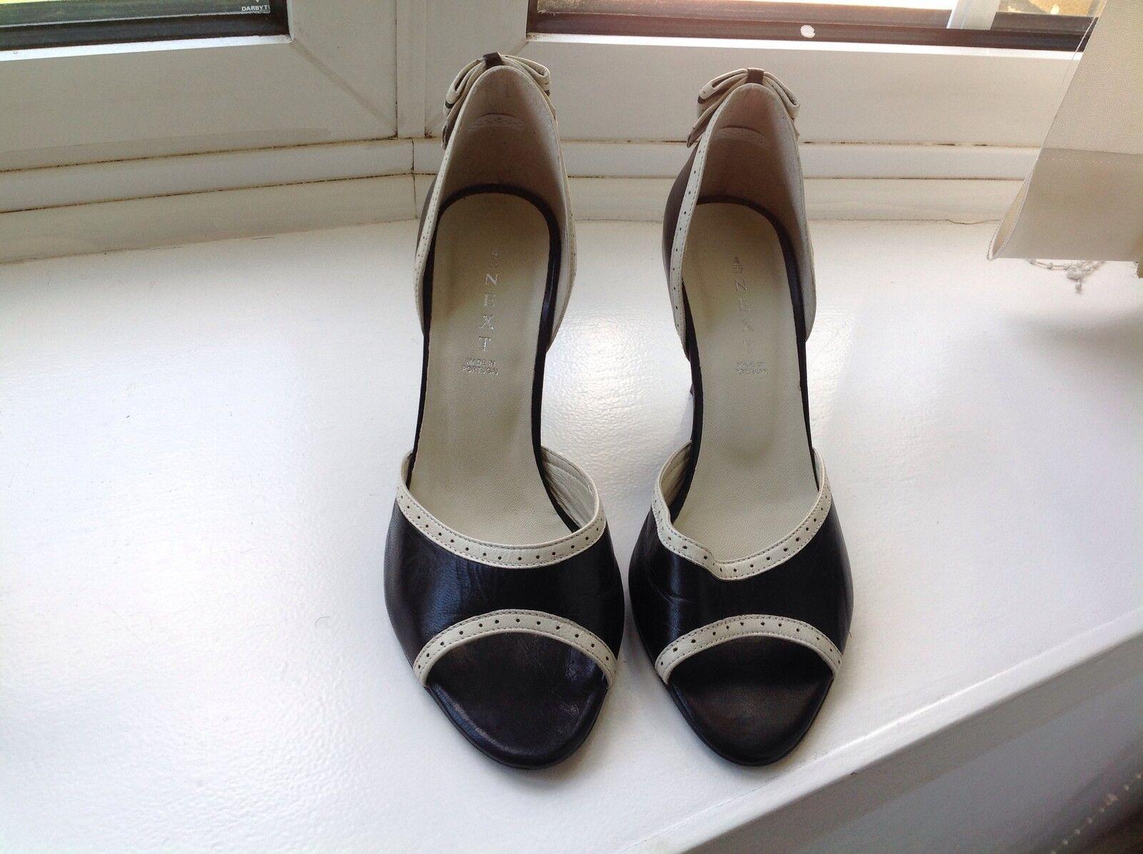 Next Peep Toe Leather Heels.New 4 UK