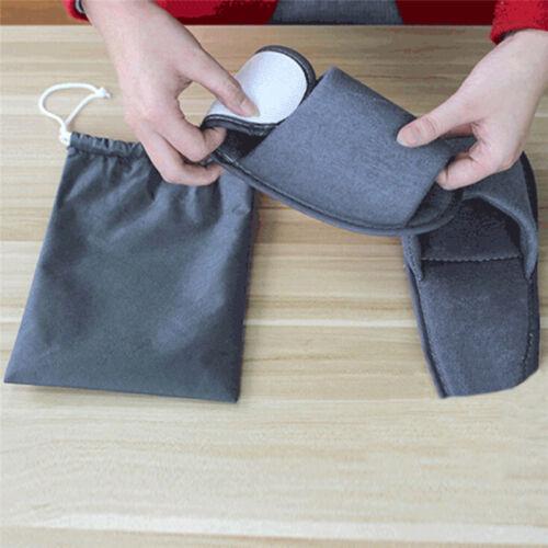 GUEST Felt SLIPPERS Foldable Spa Hotel Carpet OPEN Toe Set Mens Womens EVA Soles