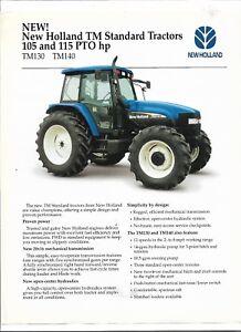 Original NEW HOLLAND 105 115 PTO HP TM130 TM140 Tractor sales brochure NH4280502-afficher le titre d`origine emGvdBQk-09153007-654504262