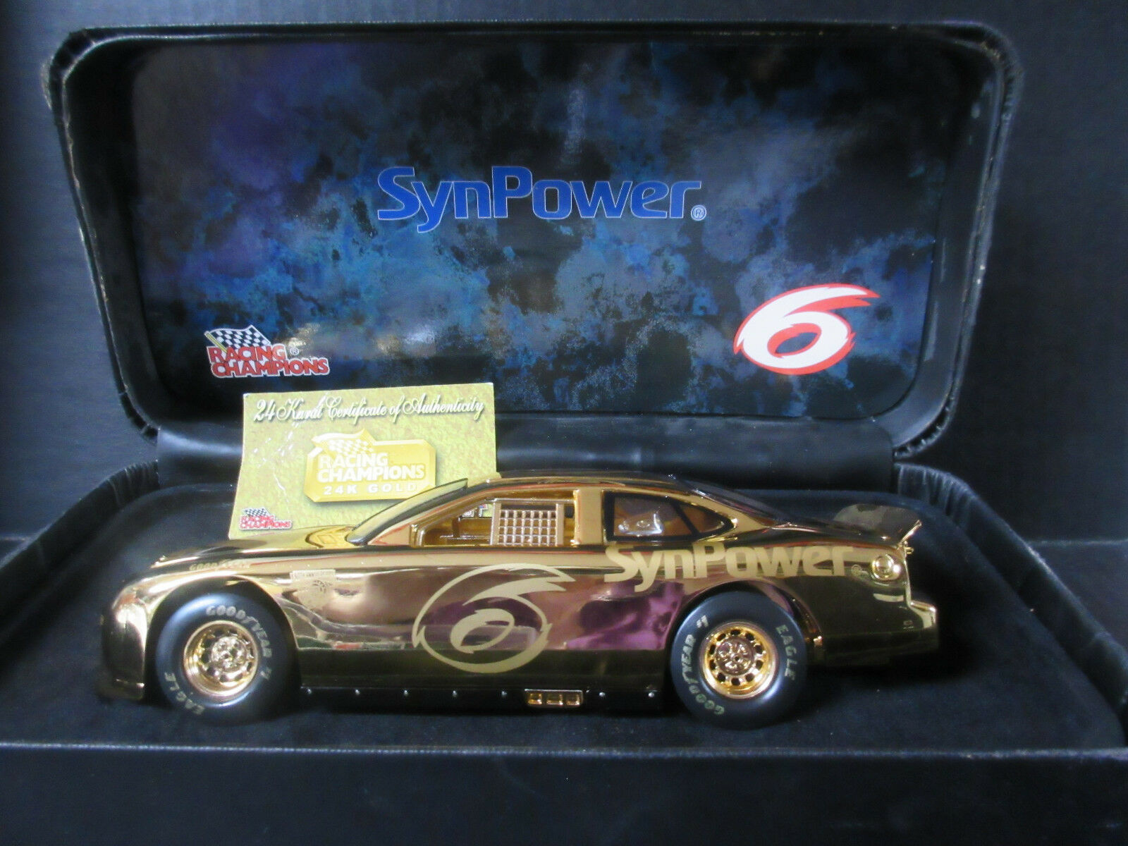 Racing Champions 50th Anniversary 24 K gold Nascar -- 1 24th scale