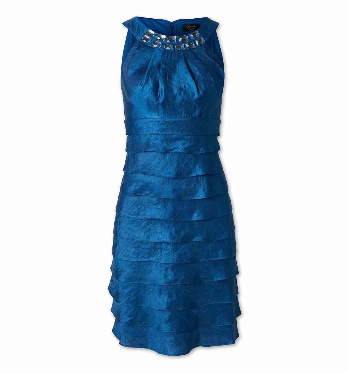 Neu Langes Abendkleid Traum-Kleid Hochzeit Kleid Gr.44 royalblau NEU