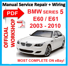 official workshop manual service repair for bmw series 5 e60 e61 rh ebay com 2003 bmw 325xi repair manual 2003 bmw z4 repair manual