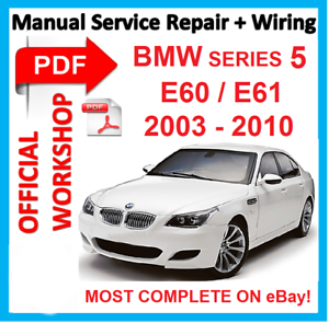official workshop manual service repair for bmw series 5 e60 e61 rh ebay com e60 service manual download bmw m5 e60 service manual
