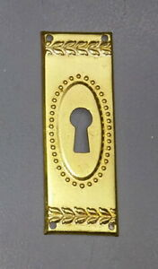 Furniture-Fitting-Old-Brass-Key-Case-Key-Sign-2-7-8in-M002