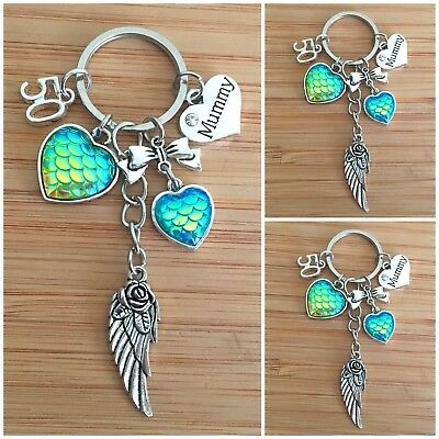 Personalised HAPPY BIRTHDAY Gifts Charm Keyring 16th 18th 21st 30th Gift for her