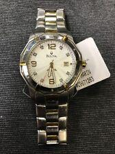 Bulova Men's 98D18 Marine Star Diamond Accent 100M Two Tone Date Watch (used)