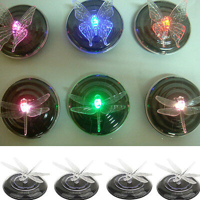 4PC Solar Powered LED Water Floating butterfly Light Waterproof Pond Lamp