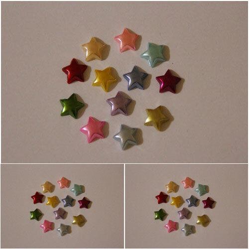 80x10mm Flatback Ivory Pearl Stars  Wedding Cards// Scrapbooking