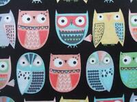 Owls In Rows Animal Timeless Treasures Fabric Yard
