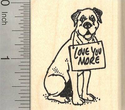 Dog with Hearts G29706 WM Valentine/'s Day Dachshund Rubber Stamp