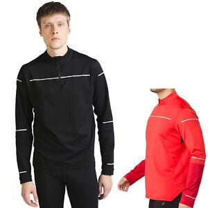 wholesale dealer 4077a 8ae47 Details about Asics Performance Lite Show half Zip Winter Longshirt Men's  Sports Lauf-Shirt
