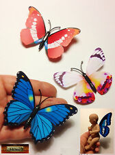 M00079-B01 MOREZMORE 3 Mini Fairy Magnet Butterfly Wings for OOAK Doll Baby NDY