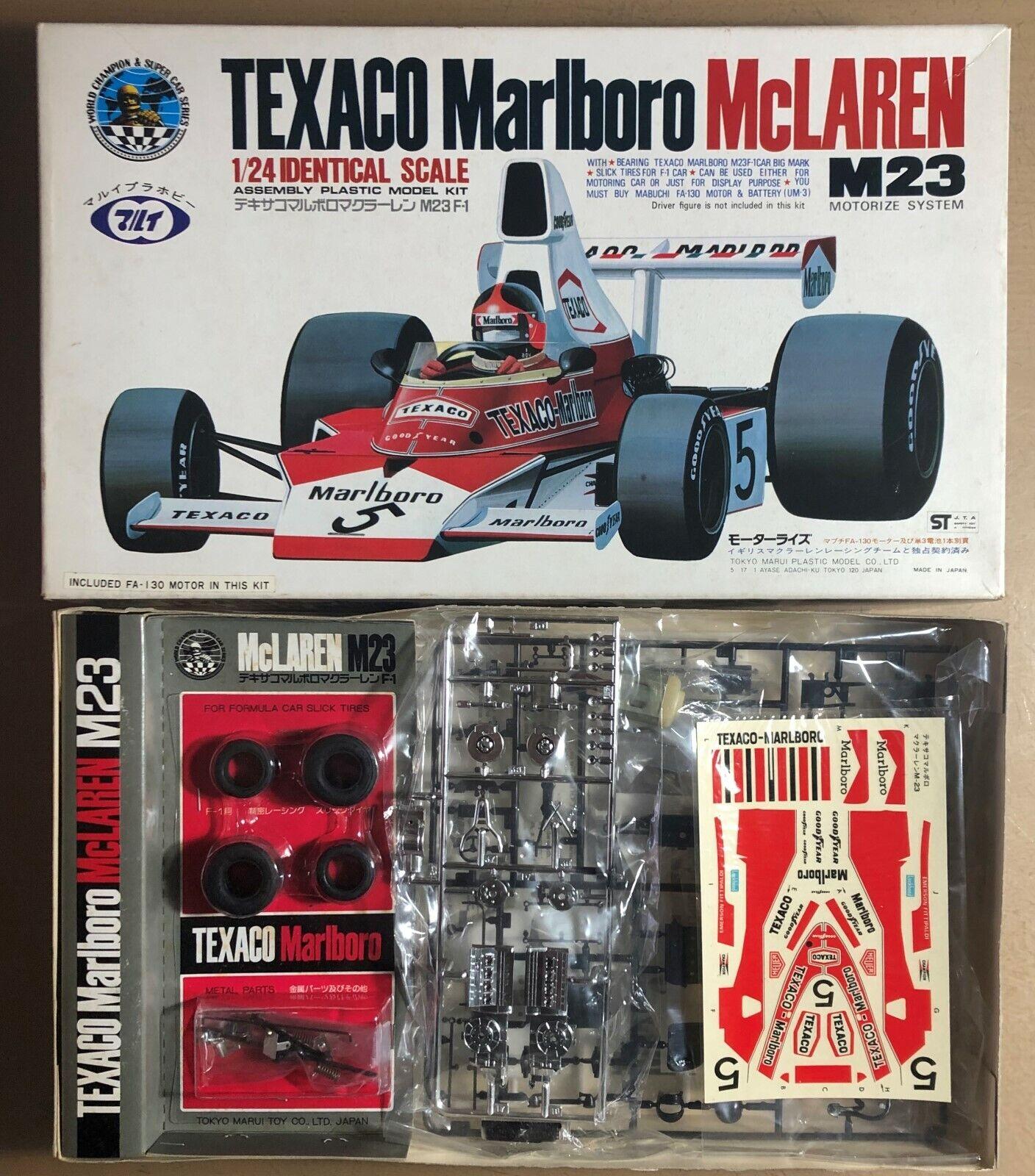 TOKIO TOKIO TOKIO MARUI MODEL TILT MT51-WS02-600 - TEXACO MARLBgold McLAREN M23 - 1 24 KIT 7b5235