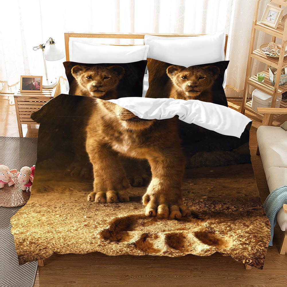 Soil FootDruckens 3D Druckening Duvet Quilt Will Startseites Pillow Case Bettding Sets