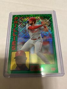 2019-Topps-Update-Silver-Pack-Mojo-Green-Refractor-Bryce-Harper-Phillies-99