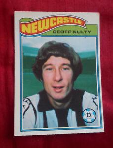 NEWCASTLE UNITED FOOTBALL CLUB 1978 TOPPS CARD GEOFF NULTY  171 VGC NUFC - Wirral, Merseyside, United Kingdom - NEWCASTLE UNITED FOOTBALL CLUB 1978 TOPPS CARD GEOFF NULTY  171 VGC NUFC - Wirral, Merseyside, United Kingdom
