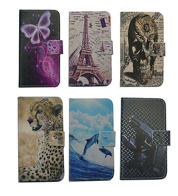 For LG Lenovo luxury Wallet card Magnetic flip Leather case cover + stylus