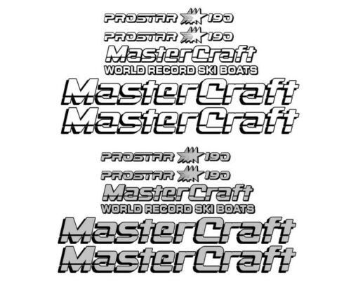 MASTERCRAFT 190 BOAT HULL GRAPHICS KIT SKI DECAL STICKER SET L@@K 2 Color