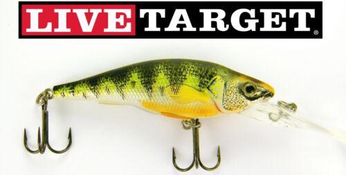 Live Target Crankbait Deep YP73D100 Yellow Perch Natural Matte 2.75 Inch Lure