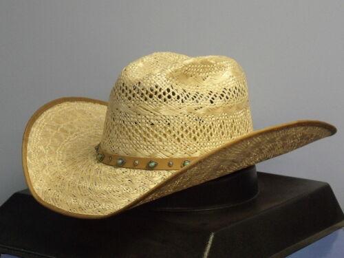 SIZE 7 RENEGADE BY BAILEY AUBREY NATURAL STRAW WOMEN/'S COWBOY WESTERN HAT