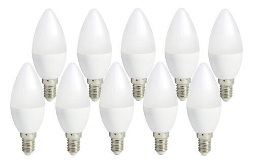 10er Set Bioledex TEMA LED Kerze E14 6W 470Lm Warmweiss 2700K wie 40W