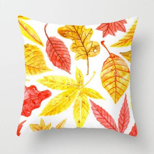 """18/"""" Yellow Pillow Case Sofa Car Waist Throw Cushion Cover Pillowcase Home Decor"""