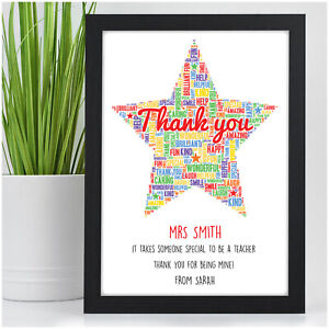 2af3ba693c5 Image is loading Personalised-Teacher-Gifts-Thank-You-Teacher-End-Of-