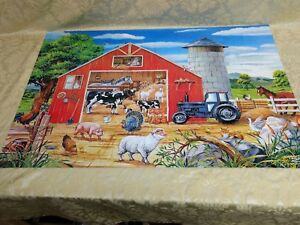 Details About Melissa Doug Animals In The Barn Puzzle 24 Jumbo Pieces Floor Puzzle New Pzl1