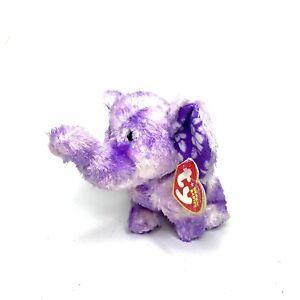 TY Coastline the Elephant Beanie Baby With Tags Purple
