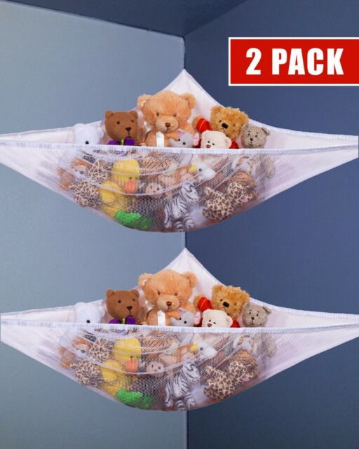 Charmant 2pcs Mesh Toy Hammock Net Organizer Corner Stuffed Animals Kids Hanging  Storage