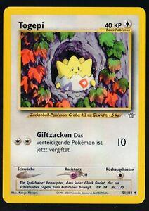 Pokemon-Karte-Togepi-51-111-Neo-Genesis-DE-deutsch-NM
