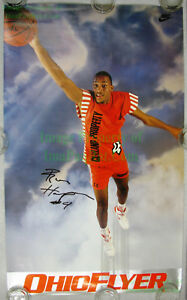SIGNED-NIKE-Poster-Ron-Harper-Cleveland-Cavaliers-Cavs-OHIO-FLYER-Never-Hung