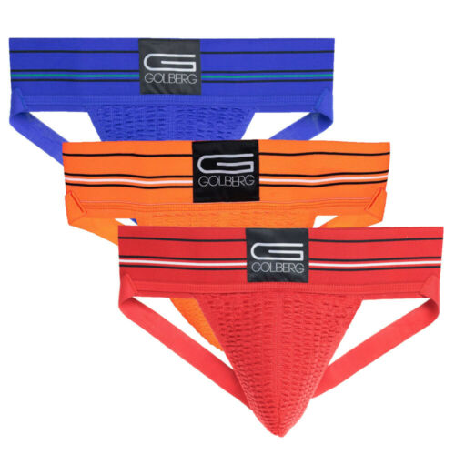 Golberg Men/'s Jock Strap Underwear Athletic Supporter Adult Color /& Pack Sizes